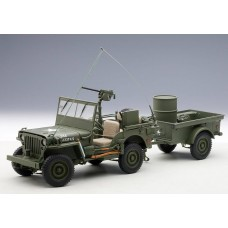Jeep Willys MB USA Army 1941 With trailer and accessories