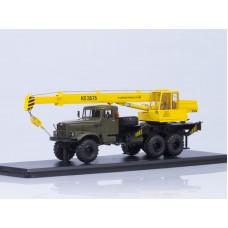 Автокран КС-3575 (на шасси КРАЗ-255Б1), хаки/желтый